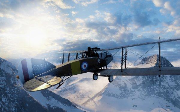 Video Game Battlefield 1 Battlefield Warplane Sun Mountain HD Wallpaper | Background Image