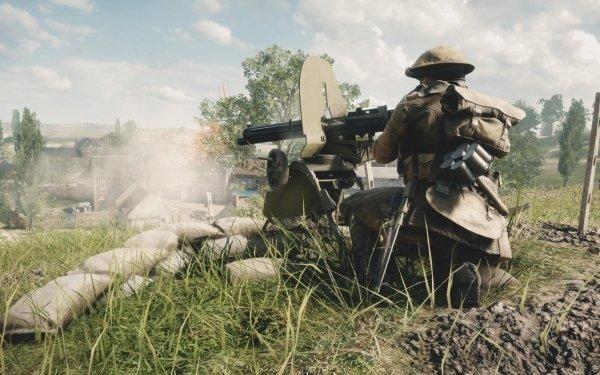Video Game Battlefield 1 Battlefield Soldier Machine Gun Weapon World War I Military HD Wallpaper   Background Image