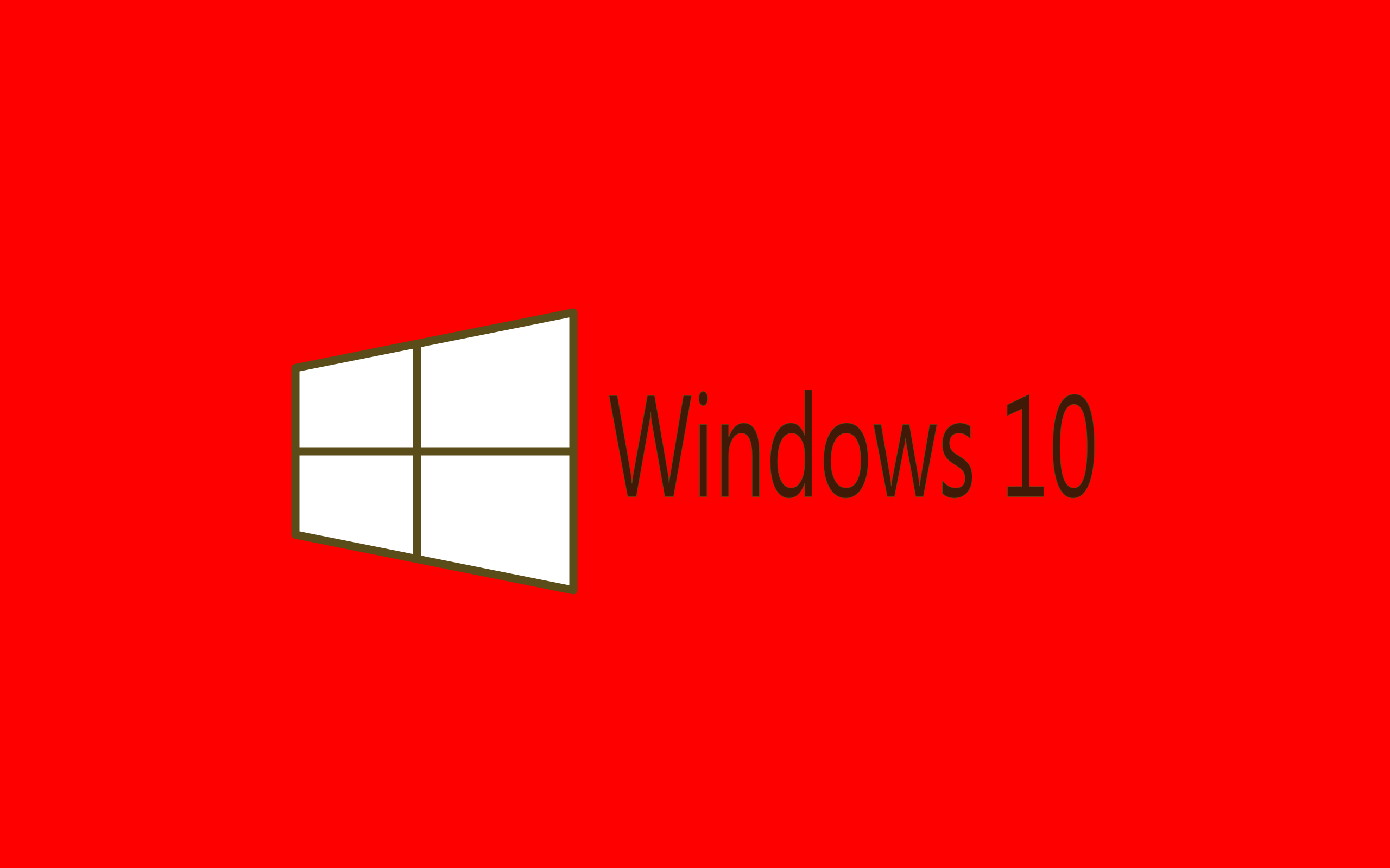 Windows10 Red Papel De Parede HD