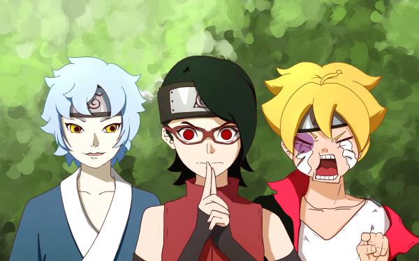 Anime Boruto Naruto Boruto Uzumaki Sarada Uchiha Mitsuki HD Wallpaper   Background Image
