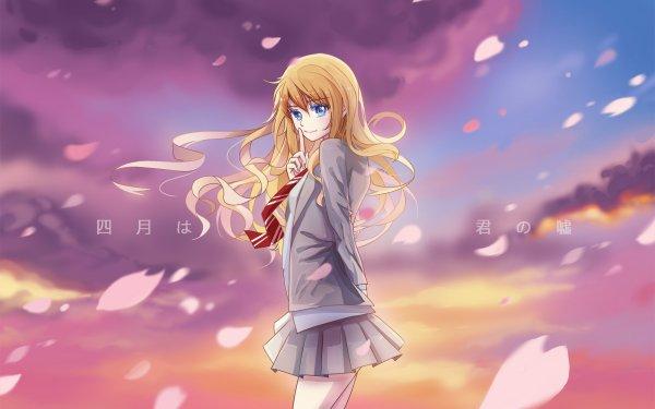 Anime Your Lie in April Kaori Miyazono HD Wallpaper   Background Image