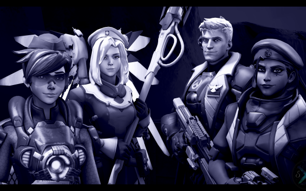 Video Game Overwatch Tracer Mercy Soldier: 76 Ana HD Wallpaper   Background Image