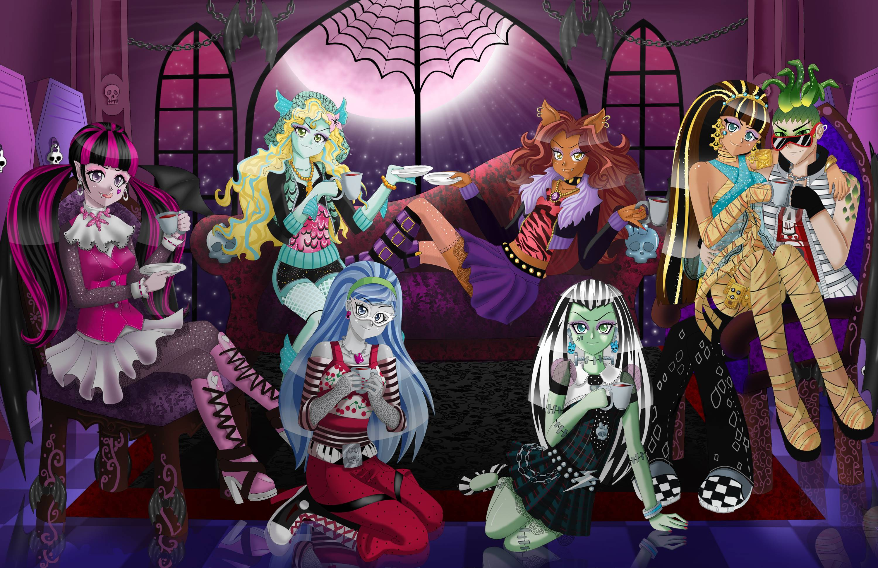 Fondo de pantalla de las monster high