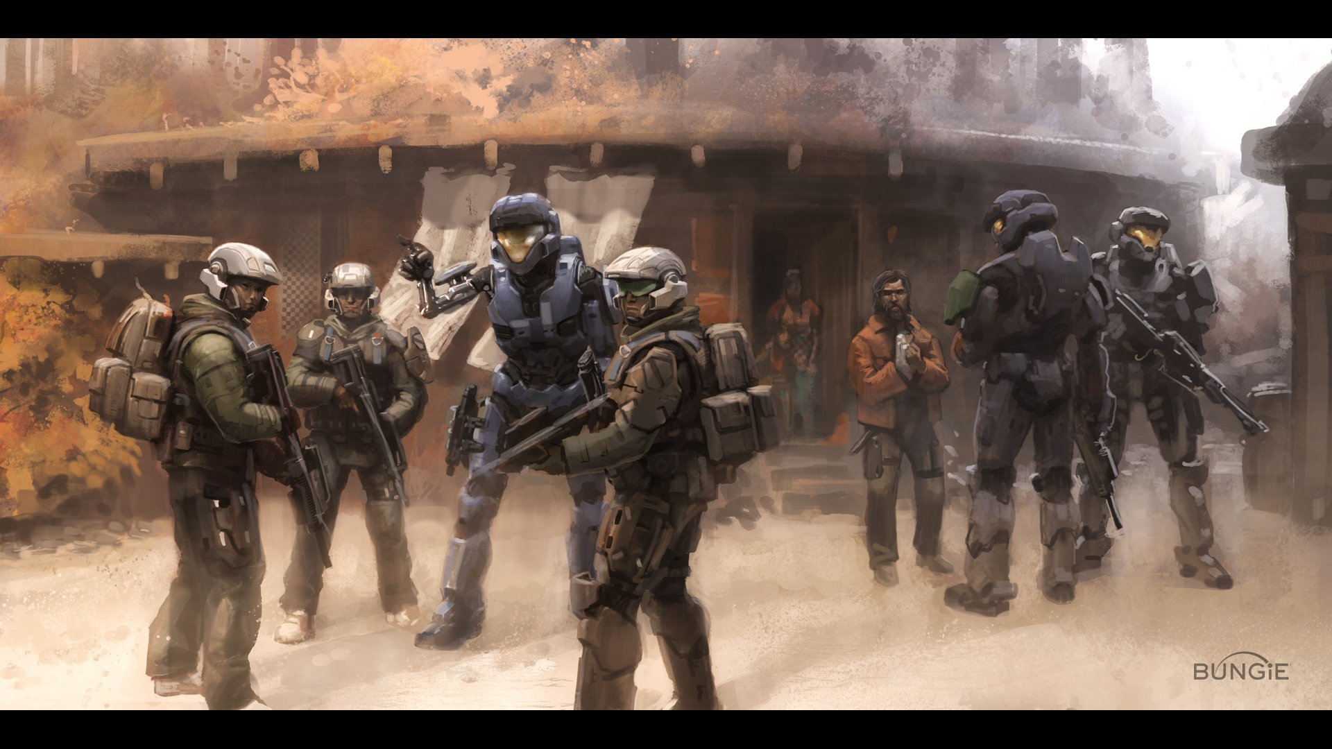 Video Game - Halo  Soldier Spartan Game Wallpaper
