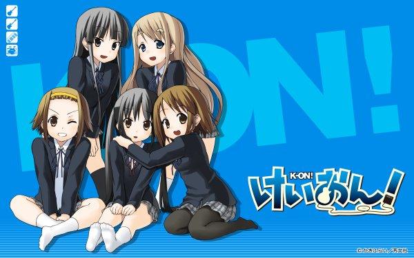 Anime K-On! Mio Akiyama Tsumugi Kotobuki Ritsu Tainaka Azusa Nakano Yui Hirasawa Fondo de pantalla HD | Fondo de Escritorio