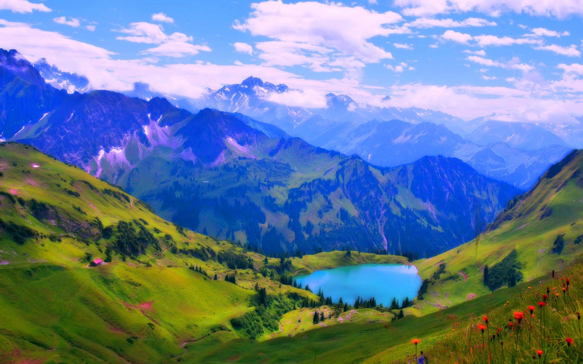 Verde Full Hd Fondo De Pantalla And Fondo De Escritorio: Turquoise Lake In The Mountains Full HD Fondo De Pantalla