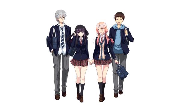 Anime Netsuzou TRap Hotaru Mizushina Yuma Okazaki Takeda Fujiwara HD Wallpaper   Background Image