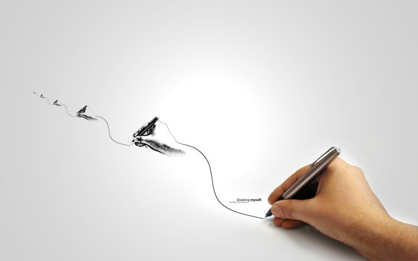 Artistic Drawing Hand HD Wallpaper | Background Image