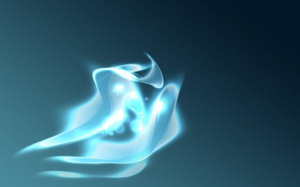 Abstract Blue CGI Shapes Colors Texture Fractal HD Wallpaper | Background Image