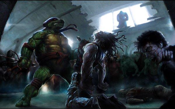 Comics TMNT Raphael Mutant Ninja Fight HD Wallpaper | Background Image