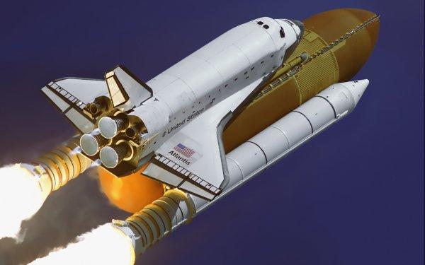 Vehicles Space Shuttle atlantis Space Shuttles Rocket Space HD Wallpaper | Background Image