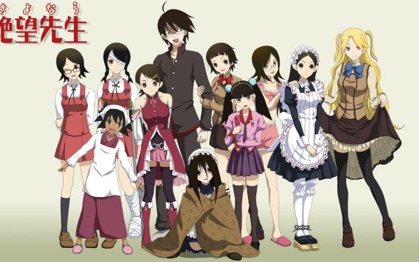 Anime Crossover Sayonara Zetsubou-Sensei Monogatari Puella Magi Madoka Magica Maria Holic Hidamari Sketch HD Wallpaper | Background Image