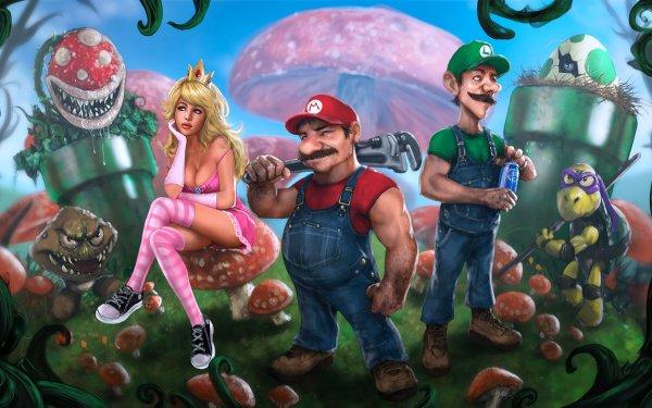 Jeux Vidéo Super Mario Bros. Mario Luigi Kappa Princess Peach Goomba Piranha Plant Fond d'écran HD | Arrière-Plan