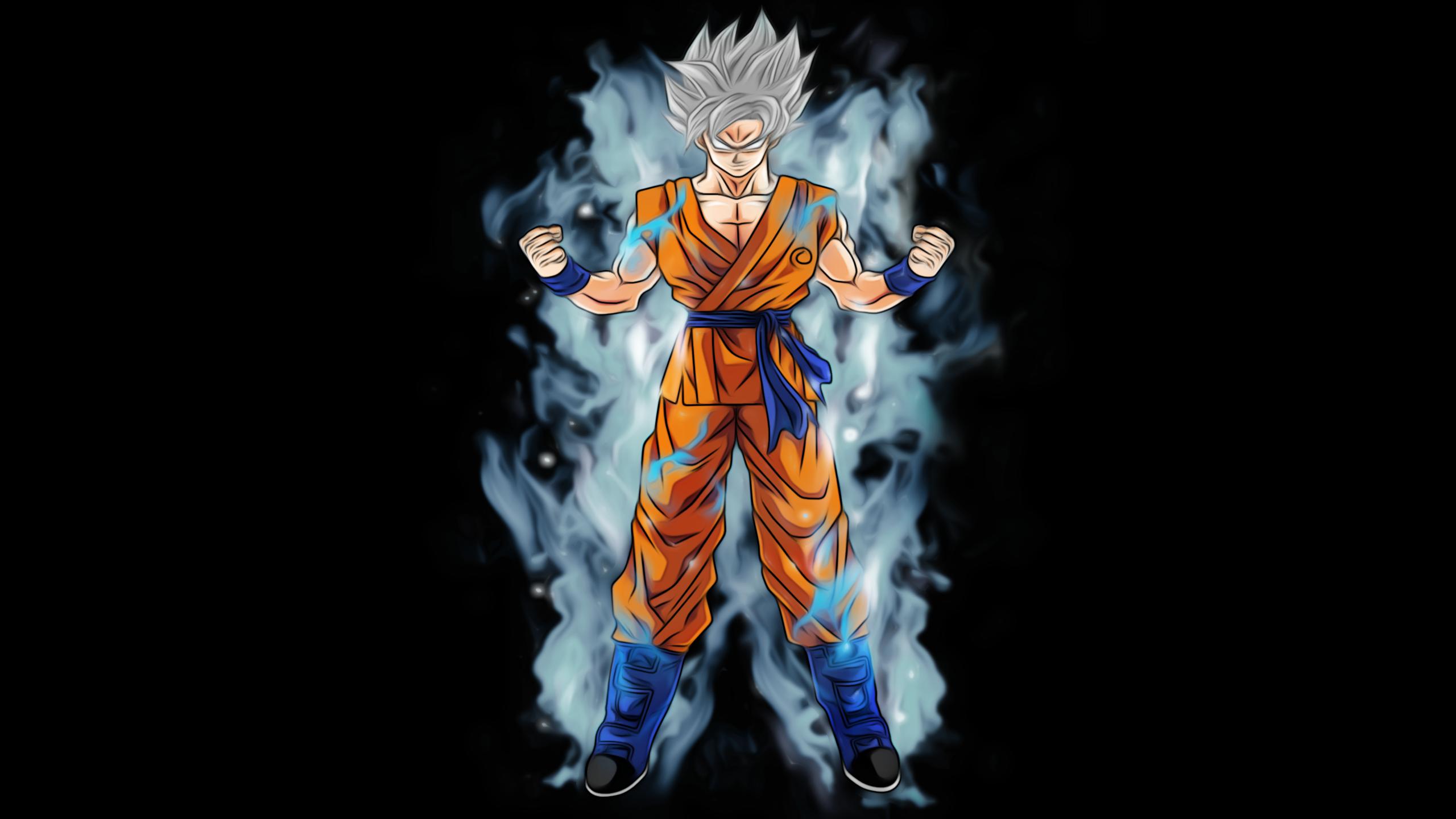 Goku Super Saiyan White Hd Wallpaper Background Image 2560x1440 Id 845601 Wallpaper Abyss