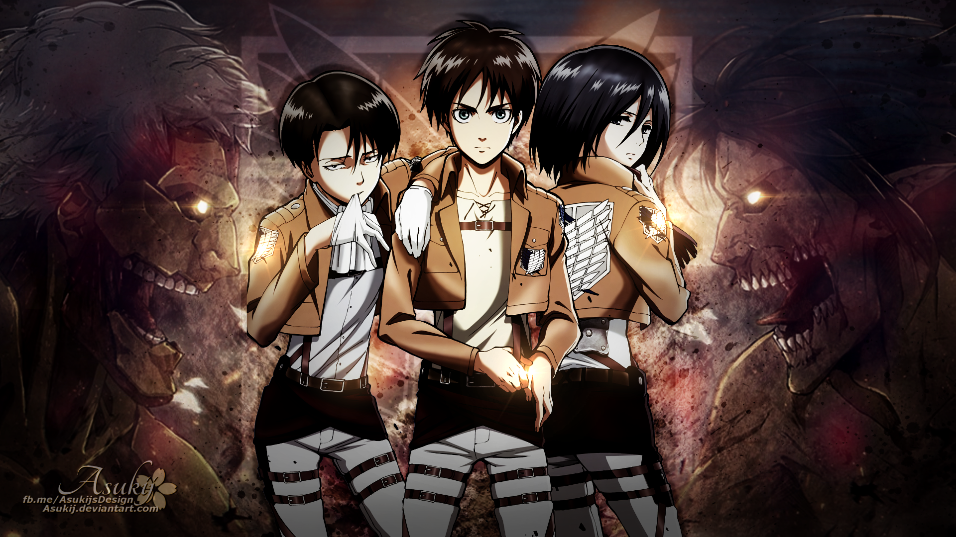 attack on titan full hd wallpaper and background