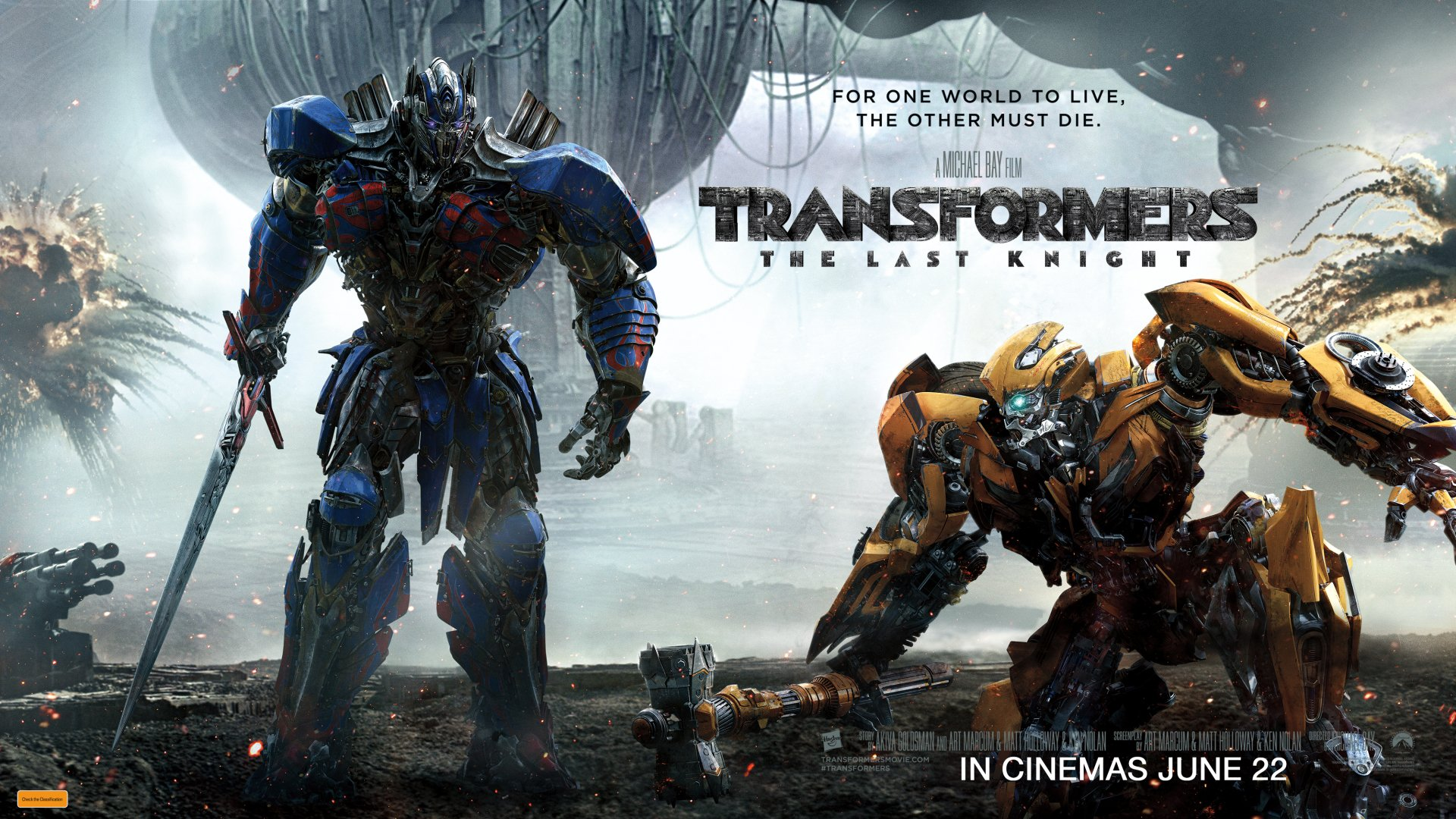 Movie - Transformers: The Last Knight  Bumblebee (Transformers) Optimus Prime Wallpaper