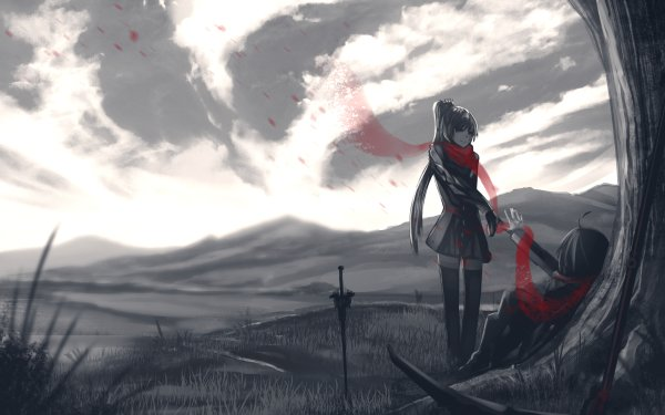 Anime RWBY Ruby Rose Weiss Schnee HD Wallpaper | Background Image