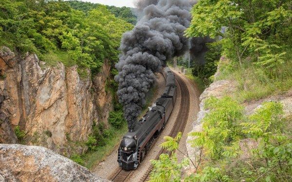 Vehicles Train Smoke Locomotive HD Wallpaper | Background Image