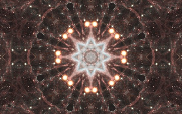 Abstract Pattern Artistic Digital Art Mandala Manipulation Star Stars Space HD Wallpaper | Background Image