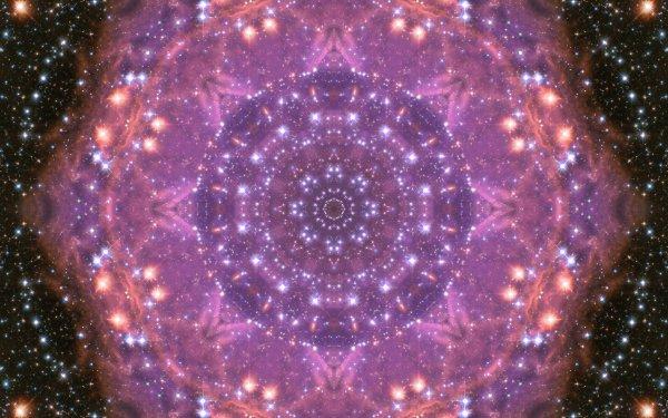 Abstract Pattern Artistic Digital Art Mandala Manipulation Purple Stars HD Wallpaper | Background Image