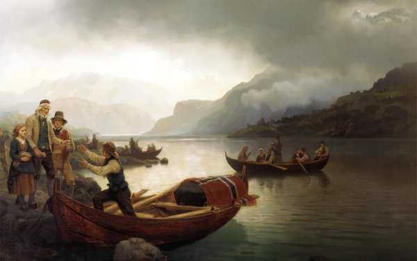 Artistic Painting Norway HD Wallpaper | Background Image