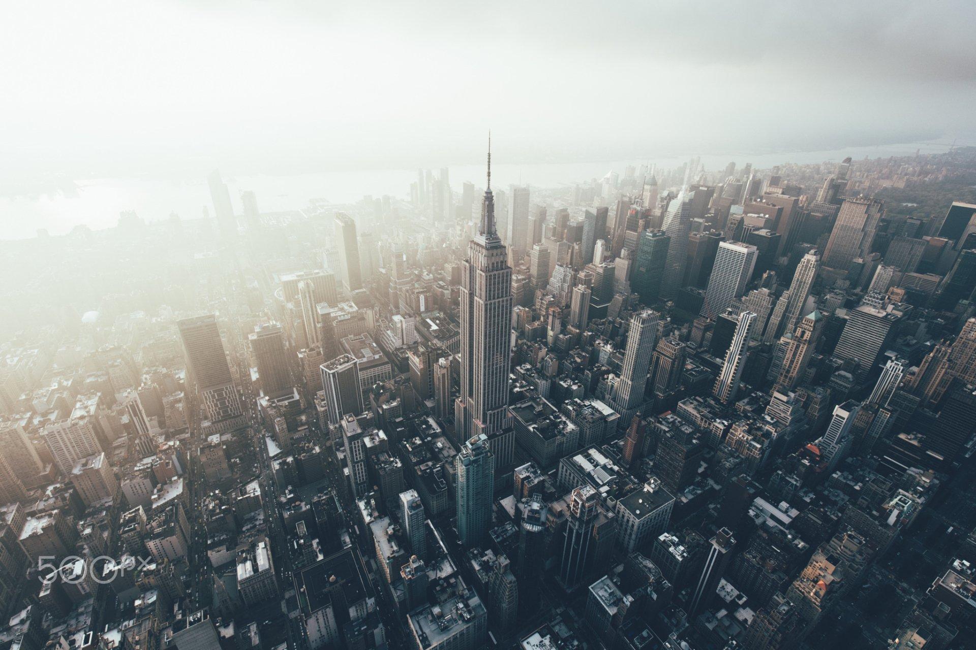 Man Made - New York  Skyscraper City USA Aerial Building Wallpaper