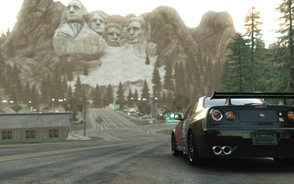 Video Game The Crew Nissan Skyline Mount Rushmore HD Wallpaper | Background Image