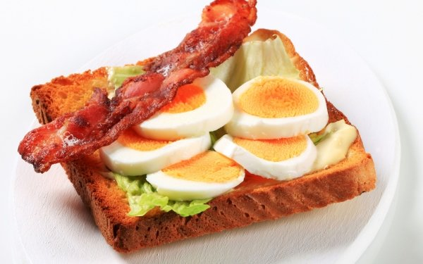 Food Breakfast Egg Bacon Toast HD Wallpaper   Background Image