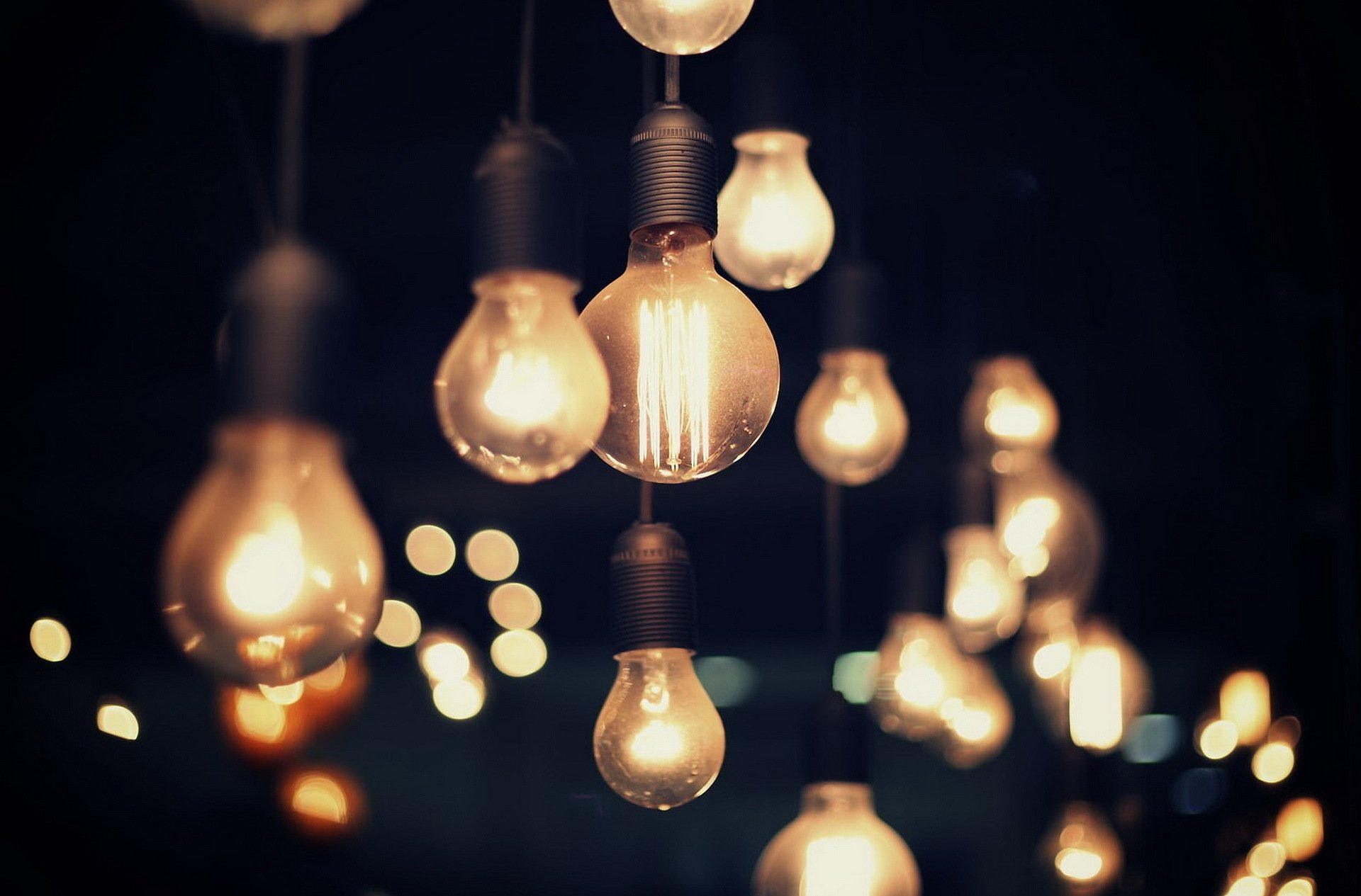 Man Made - Light Bulb  Night Light Depth Of Field Wallpaper