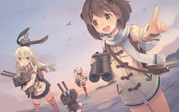 Anime Kantai Collection Yukikaze Shimakaze Amatsukaze HD Wallpaper   Background Image