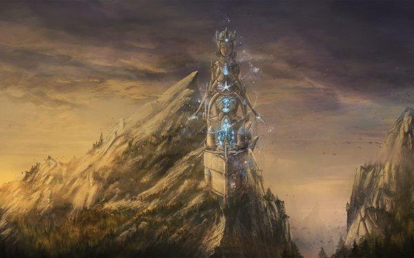 Fantaisie Bâtiment Bâtiments Paysage Magique Tower Fond d'écran HD | Arrière-Plan