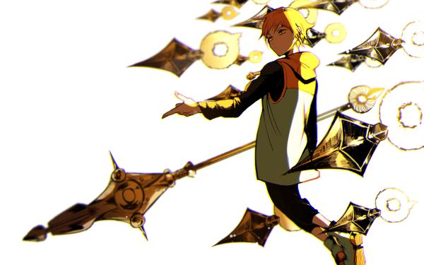 Anime Seven Deadly Sins King Arme Spear Hood Yellow Eyes Blonde Fond d'écran HD | Image