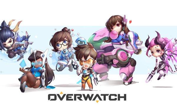 Videojuego Overwatch Tracer D.Va Mei Symmetra Hanzo Mercy Fondo de pantalla HD | Fondo de Escritorio