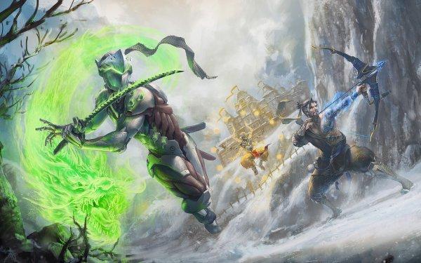 Video Game Overwatch Genji Hanzo Zenyatta HD Wallpaper | Background Image
