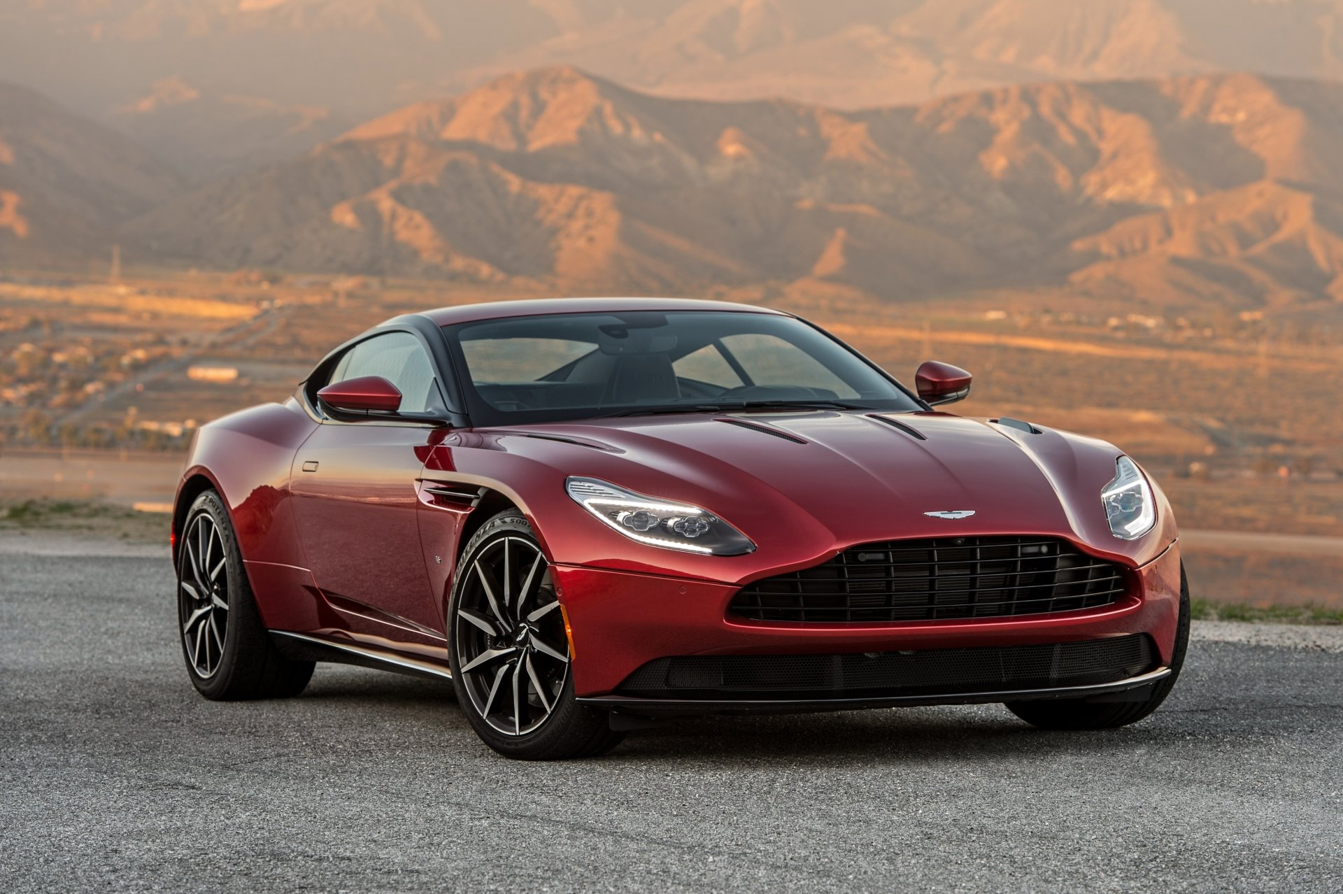 Vehicles - Aston Martin DB11  Aston Martin Car Vehicle Red Car Grand Tourer Supercar Wallpaper