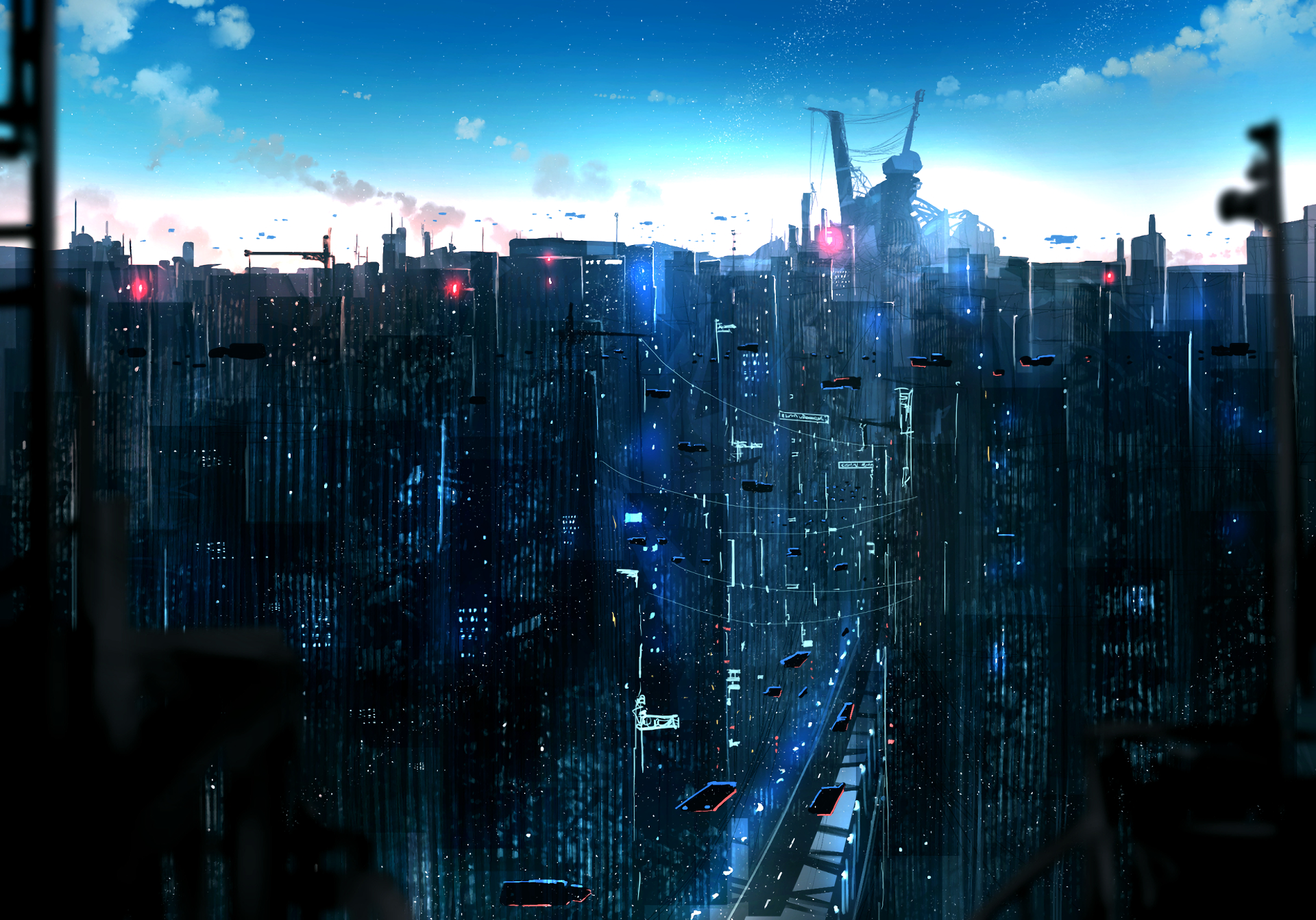 Anime - Original  City Sci Fi Building Wallpaper