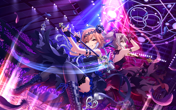 Anime THE iDOLM@STER: Cinderella Girls Starlight Stage THE iDOLM@STER Ranko Kanzaki Asuka Ninomiya HD Wallpaper | Background Image