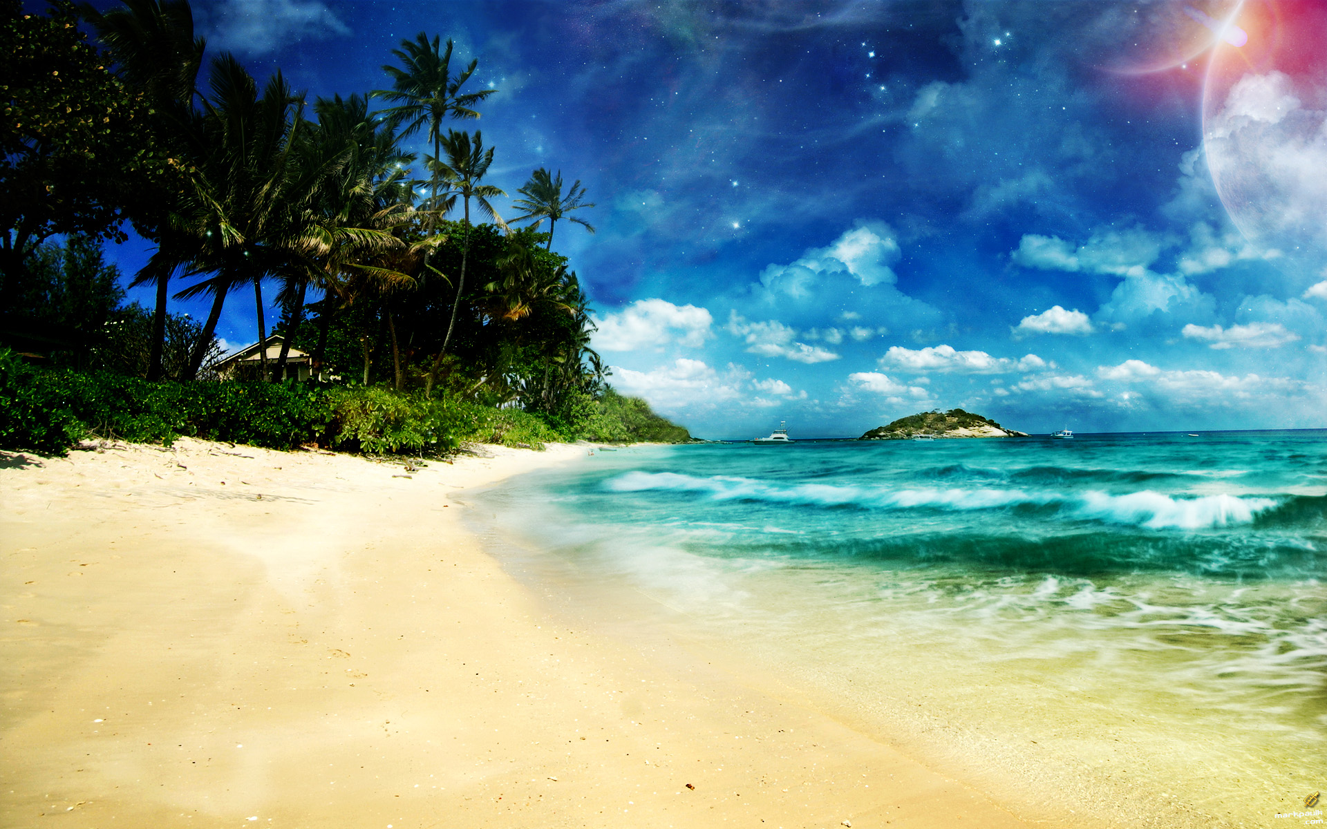 Tierra/Naturaleza - Playa  Océano Fondo de Pantalla