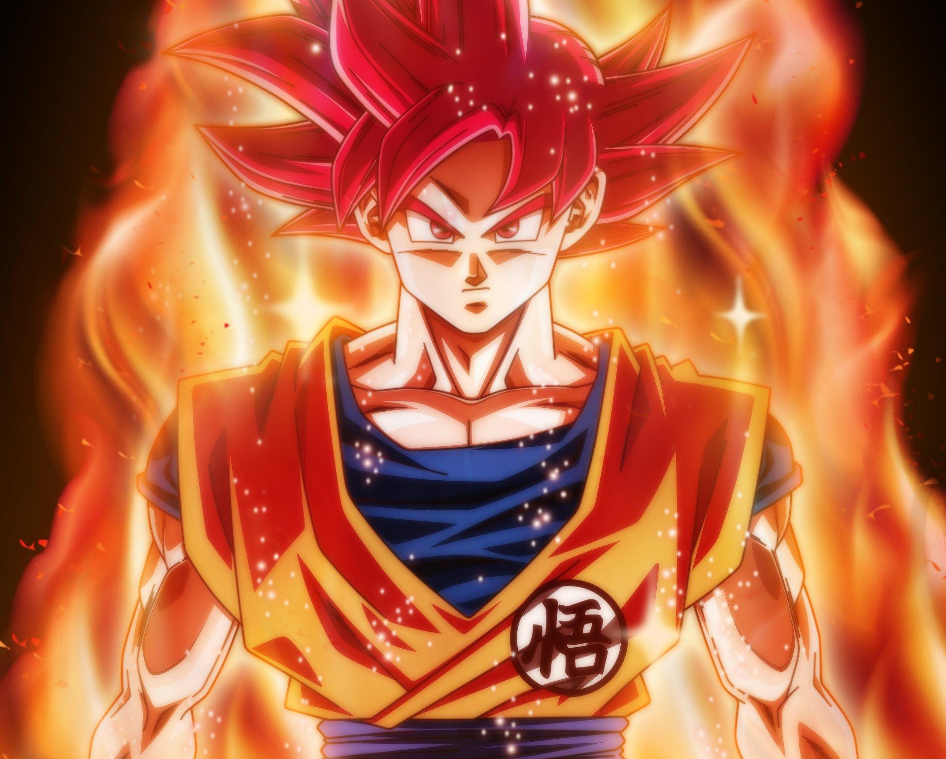 Goku Ssj Dios Para Fondo De Pantalla: Goku God 4k Ultra HD Wallpaper
