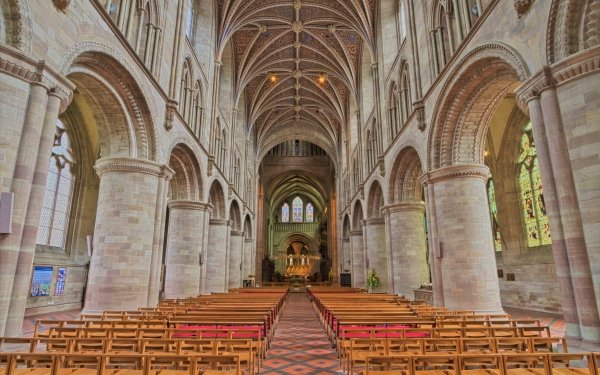 Religious Cathedral Cathedrals Church Altar Architecture HD Wallpaper   Background Image