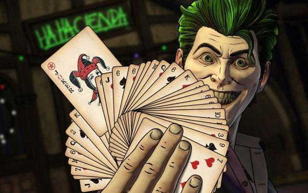 Video Game Batman: The Telltale Series Joker Card HD Wallpaper | Background Image