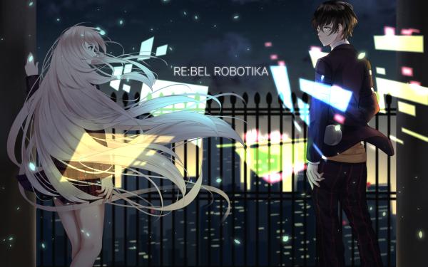 Anime Original White Hair Night Couple HD Wallpaper   Background Image