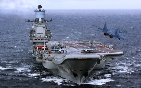 Military Russian aircraft carrier Admiral Kuznetsov Warships Russian Navy Aircraft Carrier Jet Fighter Warship HD Wallpaper | Background Image