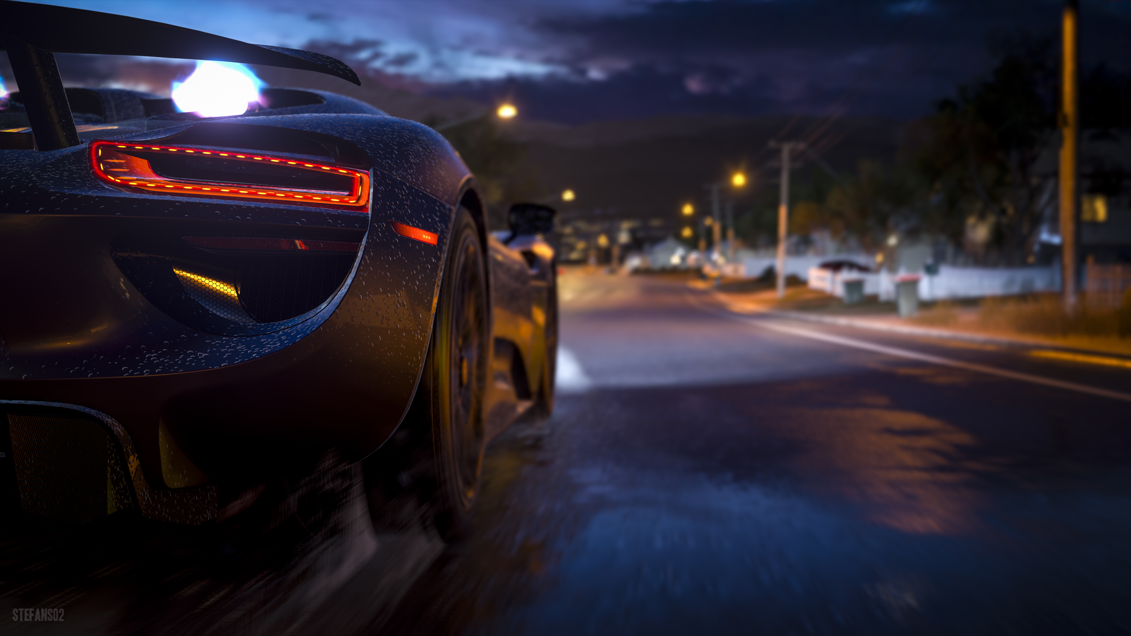 Forza Horizon 3 We Ride At Night 4k Ultra Papel De