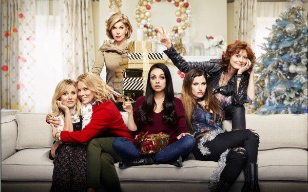 Movie A Bad Moms Christmas Mila Kunis Kristen Bell Kathryn Hahn Susan Sarandon Christine Baranski Cheryl Hines HD Wallpaper | Background Image