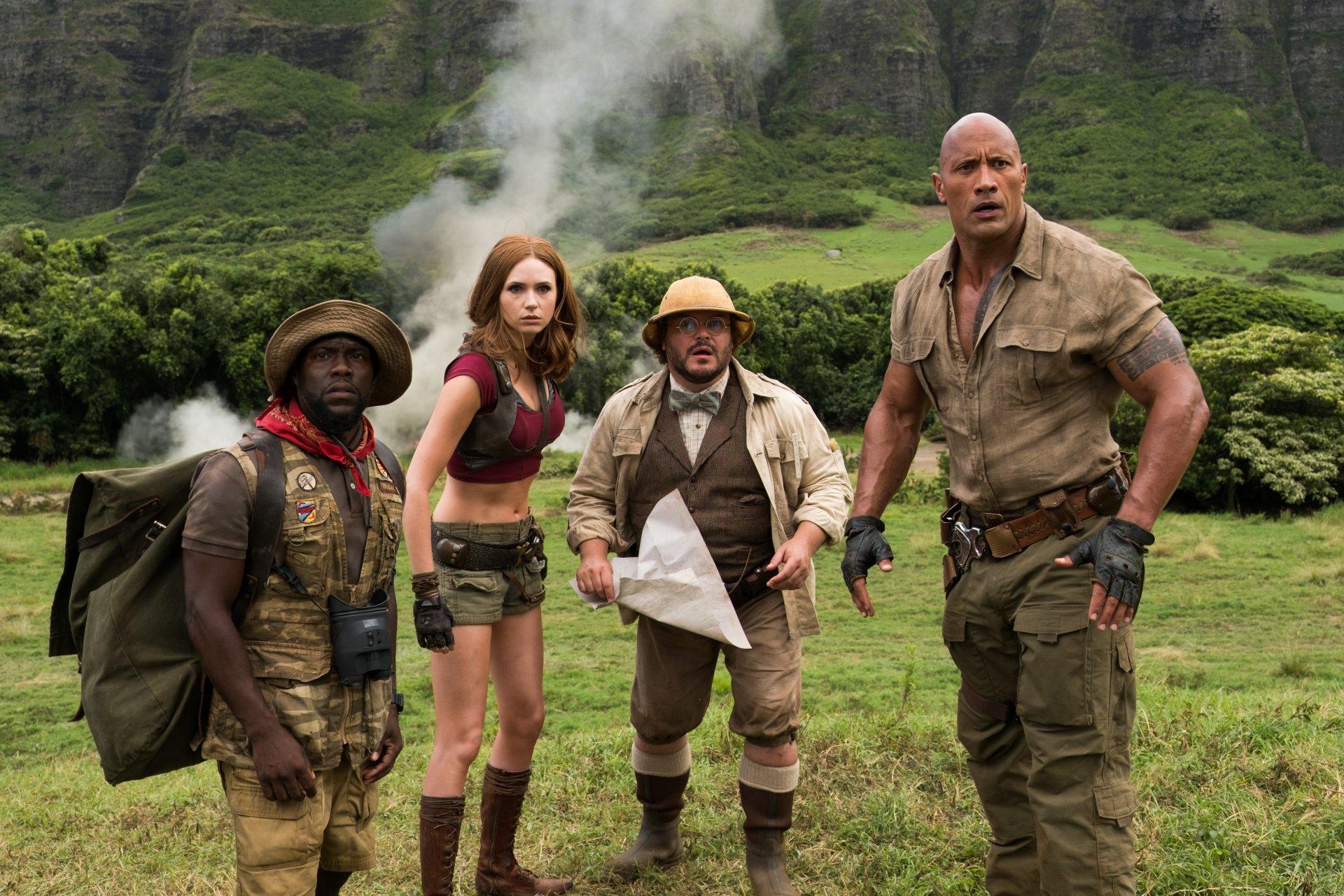 Movie - Jumanji: Welcome to the Jungle  Dwayne Johnson Jack Black Karen Gillan Kevin Hart Wallpaper