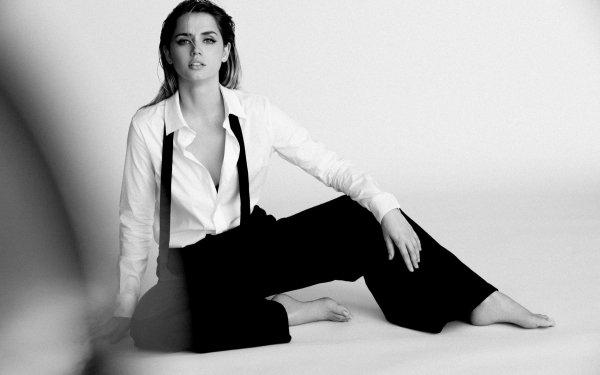 Celebrity Ana de Armas Actresses Monochrome Black & White Actress Cuban HD Wallpaper   Background Image