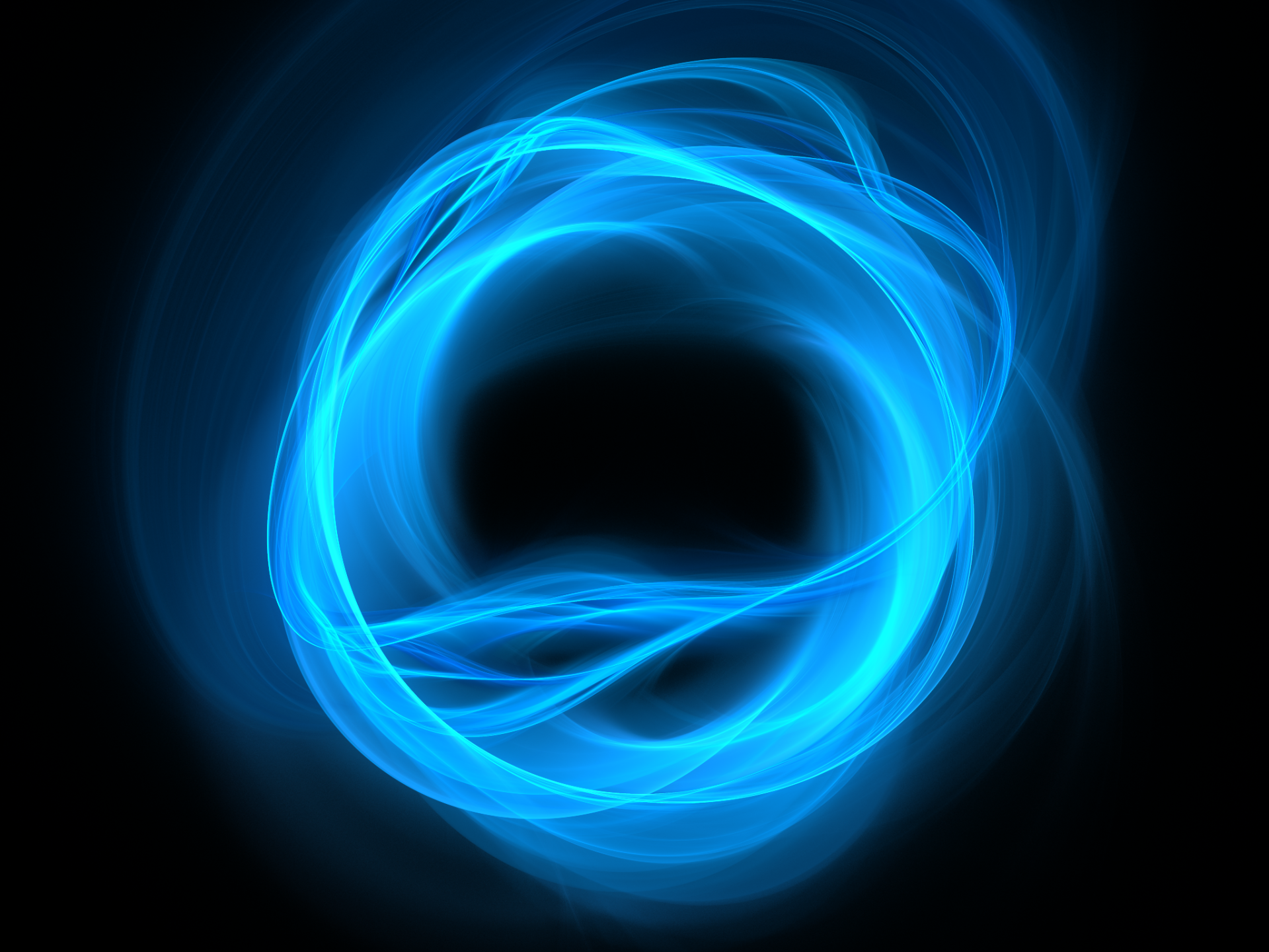 Abstract - Blue  Abstract Apophysis (software) Fractal Circle Wallpaper