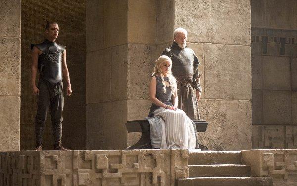 TV Show Game Of Thrones Grey Worm Jacob Anderson Daenerys Targaryen Emilia Clarke Barristan Selmy HD Wallpaper | Background Image