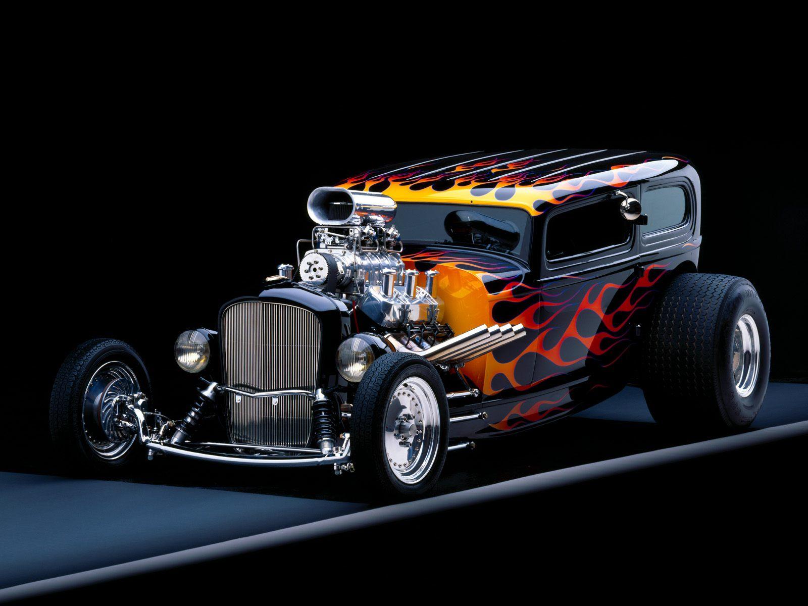Vehicles - Car  Custom Car Hotrod Flame Paint Hot Rod Wallpaper